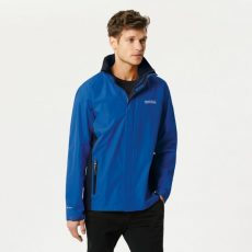 MATT WATERPROOF SHELL JACKET WITH CONCEALED HOOD